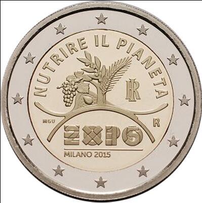 2015年第13枚2欧元纪念币,意大利--米兰世博会精制币(大图展示)图片
