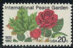 美国1982年国际和平花园50周年/花卉邮票1全 (北美洲)