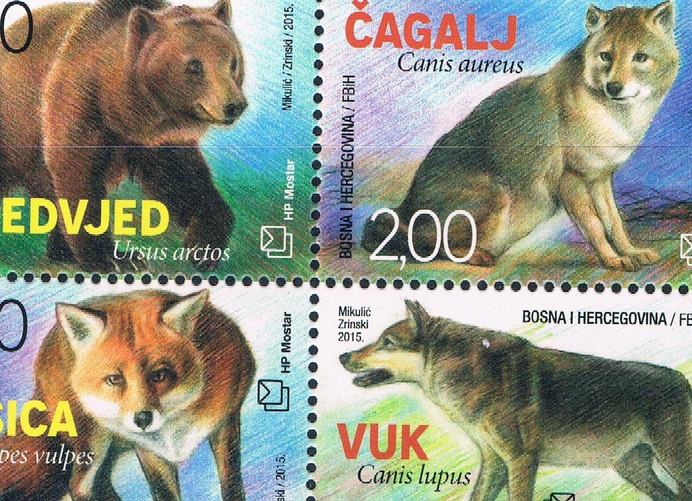 狗狗创意手绘狗年邮票