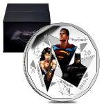 加拿大2016年《蝙蝠侠V超人-正义黎明》1盎司彩色精制纪念银币