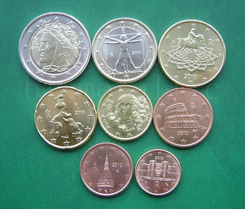 意大利2010年全新改版8枚欧元套币 未流通(大图展示)图片