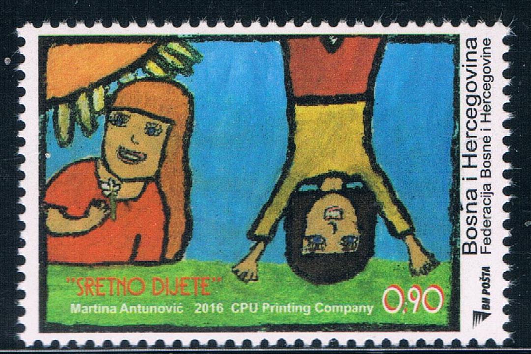 波黑2016儿童绘画 中邮网[集邮/钱币/邮票/金银币/]最