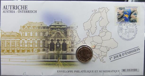 奥地利2005年1欧元硬币封(大图展示)图片