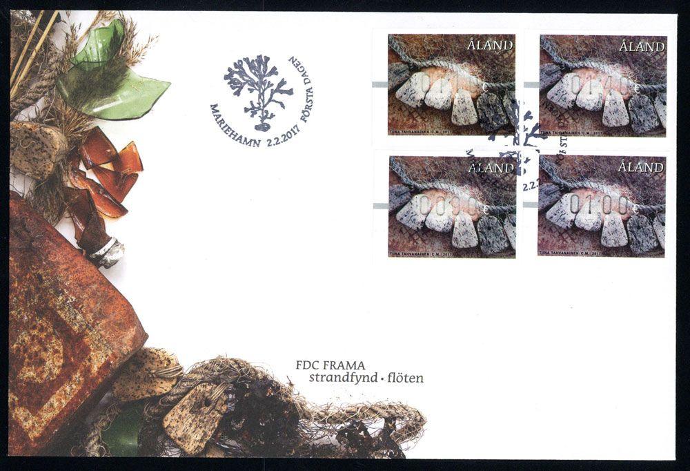 奥兰群岛2017年版邮资标签(即电子邮票)首日封