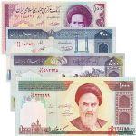 伊朗纸币4枚一套