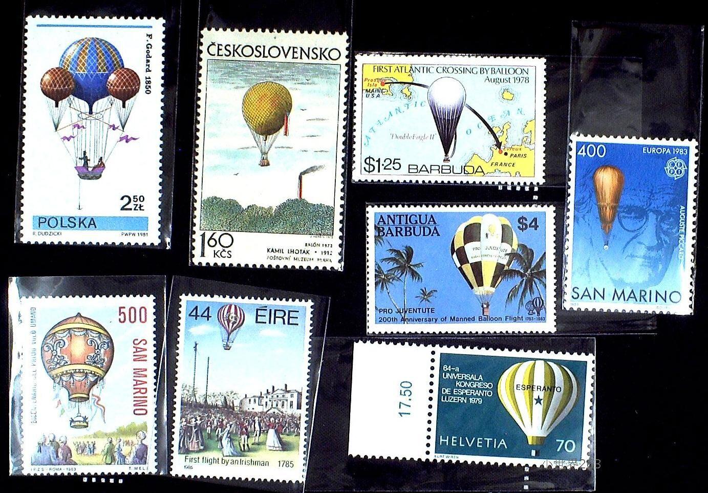 克多国发行 热气球邮票