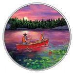 加拿大2017年户外运动(2)日落划艇彩色夜光精制银币(需预定)
