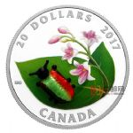 加拿大2017年小生命(2)甲虫威尼斯手工玻璃镶嵌彩色精制银币(需预定)