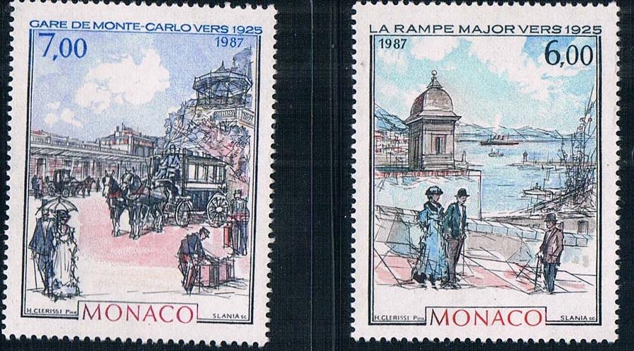 摩纳哥1987蒙特卡洛风景绘画雕刻版(大图展示)