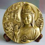 沈阳造币厂 普陀山(南海观音)120mm大铜章