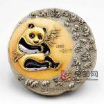 中国金币总公司 中国熊猫金币发行35周年双色大铜章