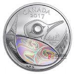 加拿大2017年守护未来全息幻彩精制银币:潜鸟
