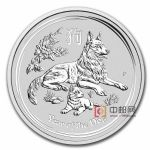 澳大利亚2018年农历生肖狗年1盎司普制银币
