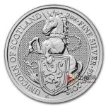 英国2018年2盎司女王神兽银币(4)苏格兰独角兽