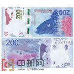 WGZB2831 2016年全新UNC阿根廷200比索纸币(美洲)