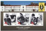 澳大利亚邮票 2017年阿德莱德邮展 战争中的妇女 小全张1全