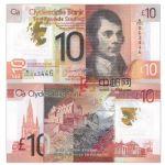 WGZB2862 2017年苏格兰10镑克莱戴尔银行塑料钞 (SCOTLAND 欧洲)