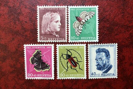 瑞士 动物 昆虫 儿童 附捐票 1953年 邮票 中邮网[集邮/钱币/邮票/金银币/收藏资讯]全球最大收藏品商城