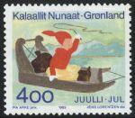 OZ3506格陵兰1993年圣诞节雪橇邮票新1全