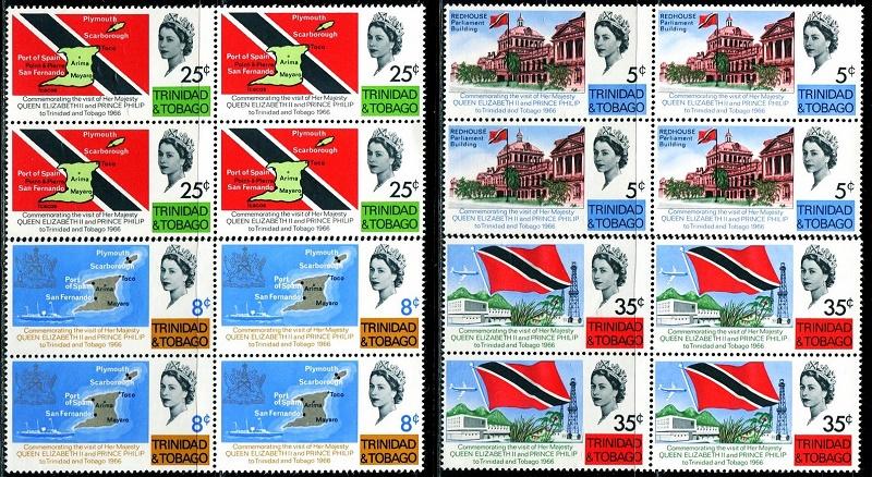 特立尼达多巴哥1966国旗地图总统府方连(大图展示)