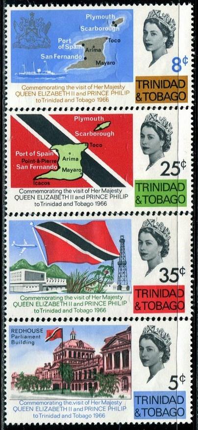 特立尼达多巴哥1966国旗地图总统府(大图展示)