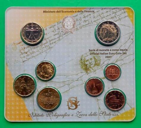 意大利2007年8枚欧元纪念套币(大图展示)图片
