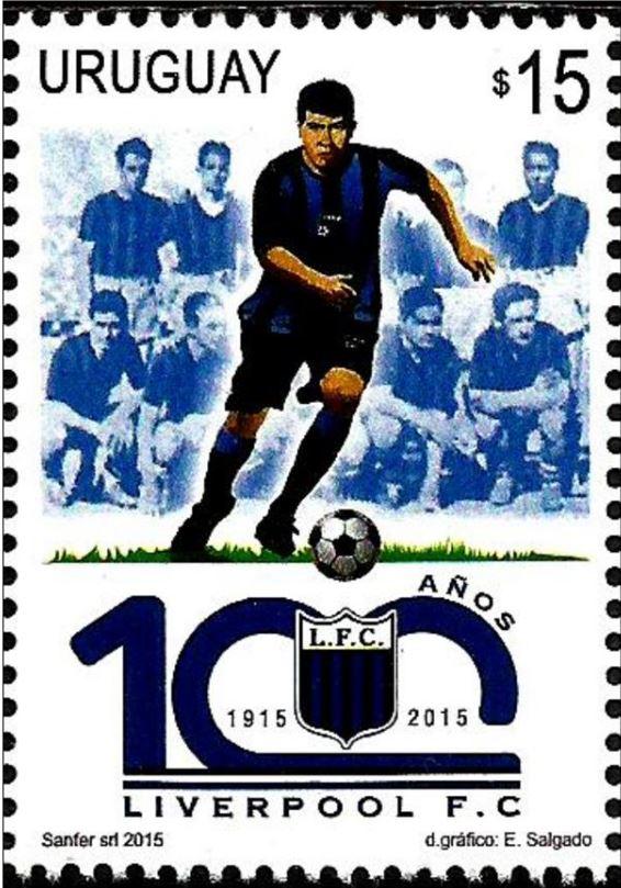 乌拉圭2015年利物浦足球俱乐部建队100周年纪