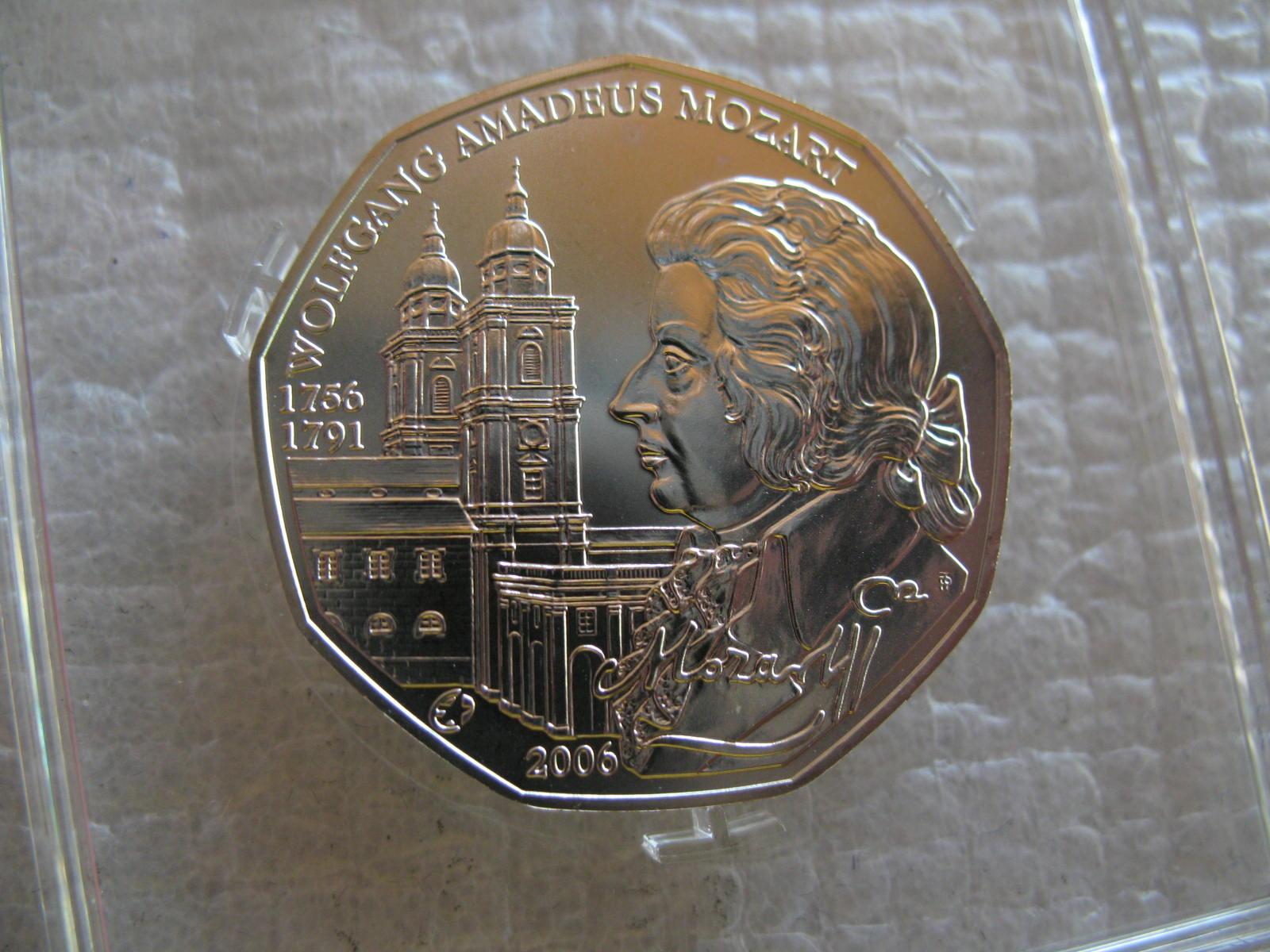 奥地利 2006年 5欧元 纪念银币-音乐家 莫扎特(大图展示)图片