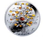 纽埃2016年幸运树(1)天然琥珀镶嵌彩色精制银币(需预定)