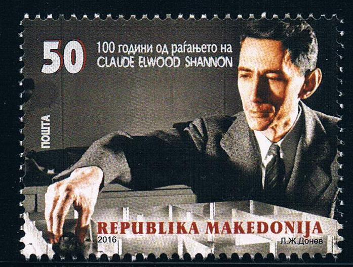马其顿2016数学家信息论创始人香浓诞辰百年