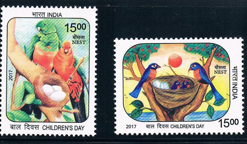 印度2017儿童节鸟类动物 中邮网[集邮/钱币/邮票/金/]