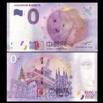WGZB2867-M 2017年欧盟0元纸币动物系列水族馆的海豹纪念钞