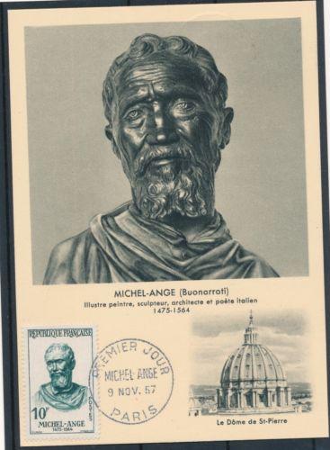 法国1957名人 米开朗琪罗雕塑 画极限片(大图展示)