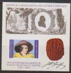 圣多美普林西比1982名人 文学家 歌德画像邮票无齿