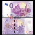 WGZB2867-3 2018年欧盟0元城市系列马耳他首都瓦莱塔纪念钞