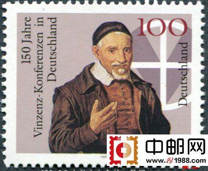 oz4189 德国邮票1995年文森特教会会议150周年1全新(大图展示)