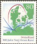 OZ4201德国1995年邮票 基尔运河100周年.地图 1全