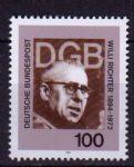 OZ4205德国1994年政治家利奇特诞辰100周年邮票1全新