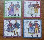 OZ4206德国邮票1993年服饰4枚新
