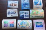 HS737外国邮票小型张合售帆船 极地动物 人物 地图等
