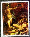 NMZ281巴拉圭雅各布祖奇人体名画邮票~普赛克与爱神1枚新票