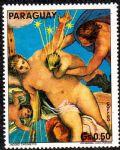 NMZ282巴拉圭丁托莱托人体名画邮票~银河的起源1枚
