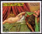NMZ290 巴拉圭丁托列托人体名画邮票~约瑟拒绝波提乏妻子诱惑
