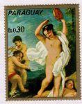 NMZ289巴拉圭阿米戈尼人体名画邮票~欢乐女神欧芙洛绪涅1枚新票 看描述