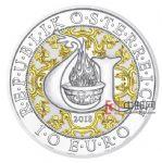 奥地利2018年四大天使长(4)光明天使乌列尔彩色精制银币