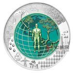 奥地利2018年人类世银铌双金属纪念银币(系列第16枚)
