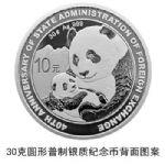 2019年��家外�R管理局成立40周年熊�加字30克�y�|�o念��