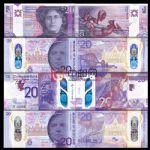 WGZB2854-B 2020年苏格兰20镑塑料钞4枚