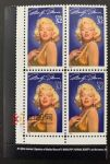 WG00013 美国 1995年著名影星玛丽莲・梦露邮票四方连