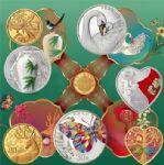 2021年吉祥文化金银质纪念套币(七枚一套)